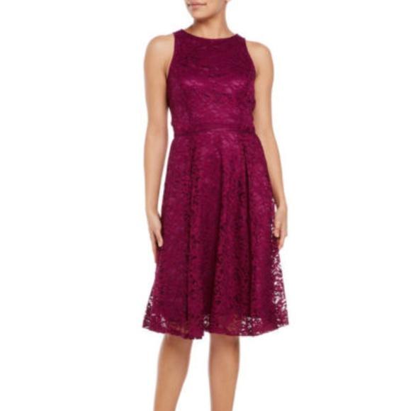 f59cb3ba3014 Tahari Dresses | By Arthur S Levine Lace Fit Flare Dress | Poshmark